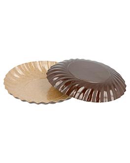 mini piatti 380 g/m2 Ø 8 cm cioccolato/pralina cartone (200 unitÀ)