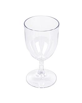 verres À pied À vin 175 ml Ø 6,8x13,5 cm transparent polycarbonate (72 unitÉ)
