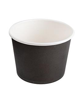 behÄlter 500 ml 280 + 18 pe g/m2 Ø11x8,2 cm schwarz feinkarton (500 einheit)