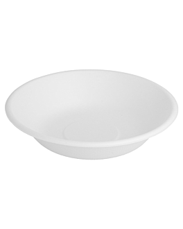 deep plates 'bionic' 460 ml Ø 16x3,6 cm white bagasse (1000 unit)