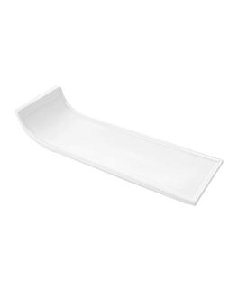 rectangular plates 30,5x10x6 cm white porcelain (4 unit)