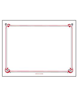 """mantelines """"maxim"""" burdeos&gris 55 g/m2 30x40 cm blanco airlaid (800 unid.)"""