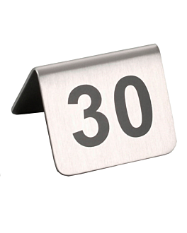 tabletop numbers from 26 to 50 5,2x4,2 cm silver stainless steel (1 unit)