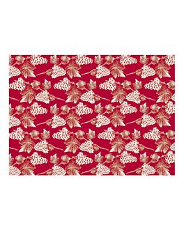 "manteles ""chardonnay"" 48 g/m2 80x80 cm rojo celulosa (500 unid.)"