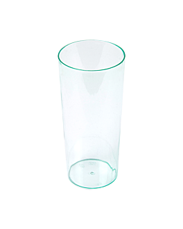 """mini verres injectÉes """"tubo"""" 130 ml Ø 4,5x10,5 cm vert d'eau ps (200 unitÉ)"""