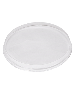 dome lids for containers 214.74/87  clear pet (50 unit)