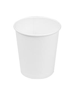 bicchieri bevande calde 1 parete 180 ml 260 + 18 pe g/m2 Ø7,2/5,3x7,8 cm bianco cartone (1000 unitÀ)