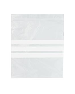 bolsas 3 franjas autocierre 92 g/m2 50µ 18x20,5 cm transparente peld (500 unid.)