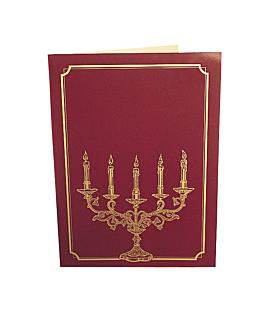 """carta 2 cuerpos """"candelabro"""" 48x33 cm surtido cartoncillo (1 unid.)"""
