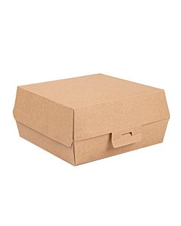 conchas hamburguesa 'thepack' 220 g/m2 15x14x6 cm natural cartÓn ondulado nano-micro (500 unid.)