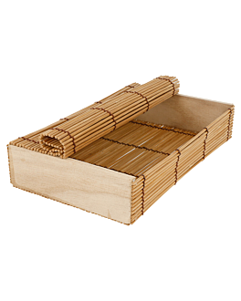sushi box 21x13x4,5 cm natural bamboo (24 unit)