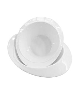 bol irregulier 26 cm blanc porcelaine (8 unitÉ)