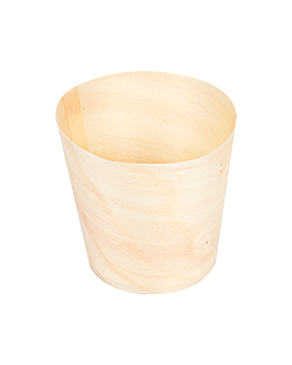 pine bark mini cups 15 ml Ø 4,4x4,5 cm natural wood (50 unit)