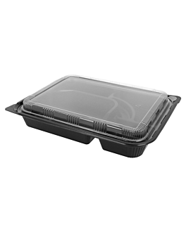 coffrets pour repas 4 compart. 27x20,6x5 cm noir pp (300 unitÉ)