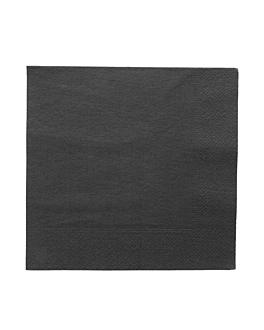 serviettes ecolabel 2 plis 18 g/m2 39x39 cm noir ouate (1600 unitÉ)