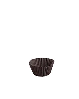 cÁpsulas 'petits fours' 50 g/m2 Ø 4x2,5 cm cacao perg. antigrasas (2000 unid.)