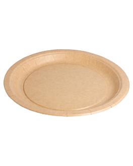 piatti rotondo bio-laccati 260 g/m2 Ø 22 cm naturale cartone (400 unitÀ)