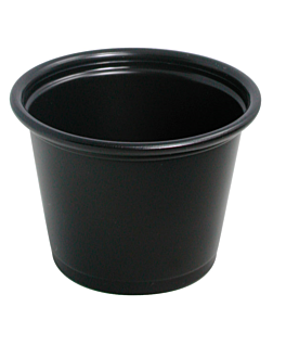 small containers microwaveable 30 ml Ø4,5x3,3 cm black ps (2500 unit)