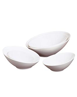 bol irrÉgulier 2400 ml Ø 34x15,3 cm blanc porcelaine (1 unitÉ)