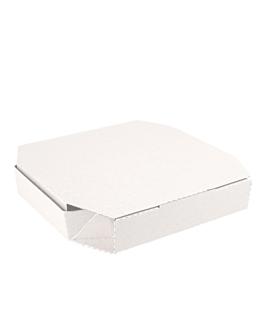 cajas octogonales 'thepack' 330 g/m2 29x29x3,8 cm blanco cartÓn ondulado microcanal (100 unid.)