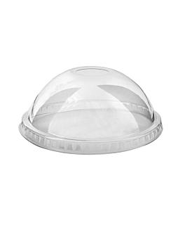 dome lids with hole for item 153.09 Ø 9,2 cm clear pet (1000 unit)