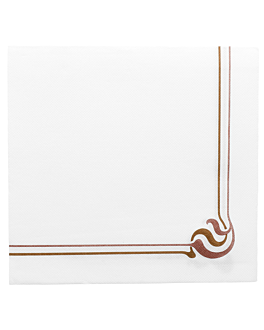 serviettes ecolabel 'double point - maxim' 18 g/m2 40x40 cm blanc ouate (1200 unitÉ)