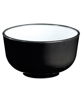 two-colored bowls 700 ml Ø14x7 cm black pp (100 unit)