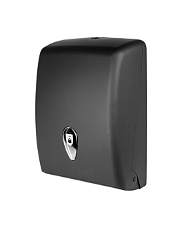 hand towel dispenser 27,7x13x37 cm black abs (1 unit)