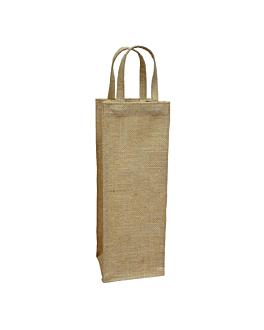 saco por decorar com asas 260 g/m2 11+10x33 cm natural juta (10 unidade)