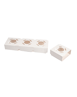 universal holder for snack cups 275 gsm 8,5x8x3,5 cm white cardboard (800 unit)