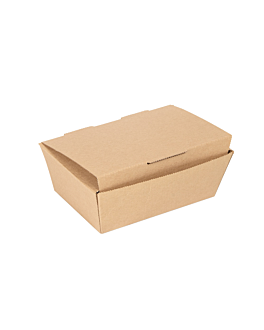 lunch box lid 'thepack' 220 gsm 14x9,7x5 cm natural nano-micro corrugated cardboard (480 unit)