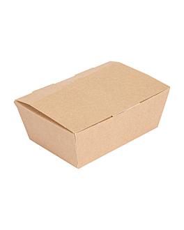 "boÎtes ""lunch box"" couvercles 'thepack' 220 g/m2 14x9,7x5 cm naturel carton ondulÉ nano-micro (480 unitÉ)"