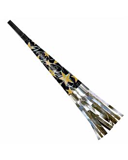 trompettes holografiques 26 (h) cm noir carton (12 unitÉ)