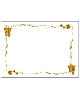sets de table 'bacchus' 48 g/m2 31x43 cm blanc cellulose (2000 unitÉ)