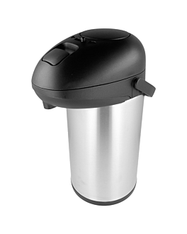 """thermo pump dispenser """"big"""" 4 l silver stainless steel (1 unit)"""
