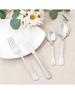 tenedores de mesa 'sevilla' 19,5 cm plateado acero (12 unid.)