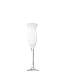 decoration geante - coupe tulipe Ø 15,5x60 cm blanc verre (1 unitÉ)