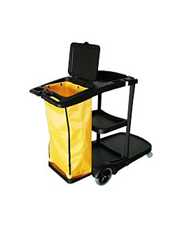 chariot nettoyage + sac vinyle 100 l 110x52x98 cm noir plastique (1 unitÉ)