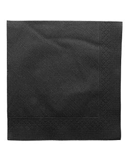 serviettes ecolabel 4 plis 'quattro' 21 g/m2 45x45 cm noir ouate (750 unitÉ)