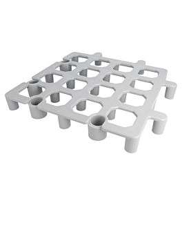 plateforme de sol protection marchandises 33x33x4 cm gris plastique (1 unitÉ)