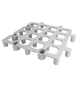 floor rack system 33x33x4 cm grey pe (1 unit)