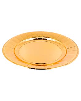pratos 475 g/m2 Ø28 cm dourado cartÃo (150 unidade)