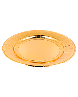 plates 475 g/m2 Ø28 cm gold cardboard (150 unit)