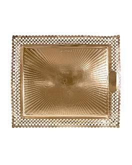 plateaux dentelÉs 'erik' 27x32 cm dore carton (100 unitÉ)