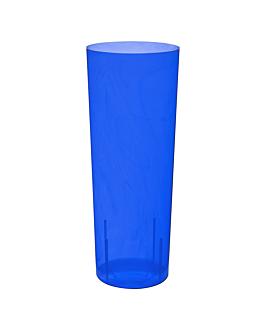 """verres injectÉs """"whisky"""" neon 300 ml Ø 6x15,2 cm bleu cristal ps (500 unitÉ)"""