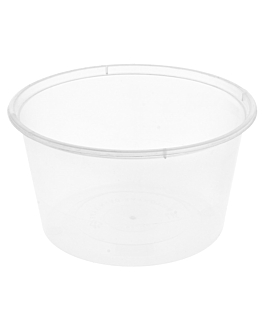 microwaveable containers 475 ml Ø 11,5x6,5 cm clear pp (500 unit)