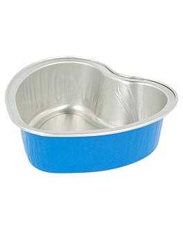 recipient patisserie 100 ml 8,8x8,8x3 cm bleu aluminium (100 unitÉ)