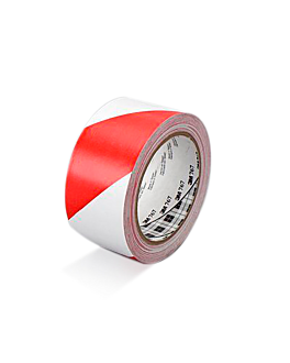 ruban de signalisation 33 m x 5 cm rouge/blanc vinyl (1 unitÉ)