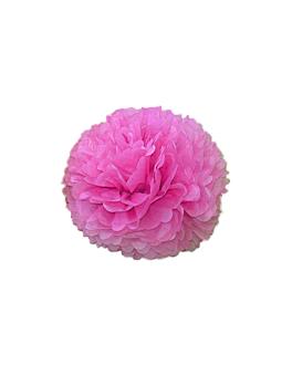 pom pom flower Ø 25 cm fucsia (10 unid.)