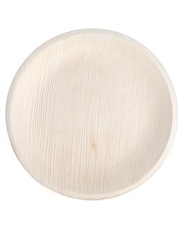 assiettes rondes 'areca' Ø 18x2 cm naturel areca (200 unitÉ)